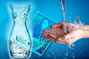 Очищающий ритуал с помощью воды и хрусталя
