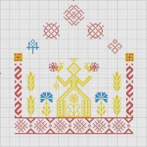 Оберег Макошь схема вышивки крестом